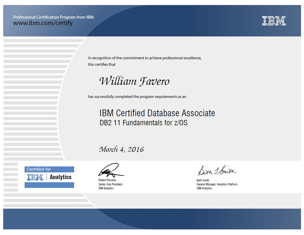 IBM Certified Database Associate - DB2 11 Fundamentals