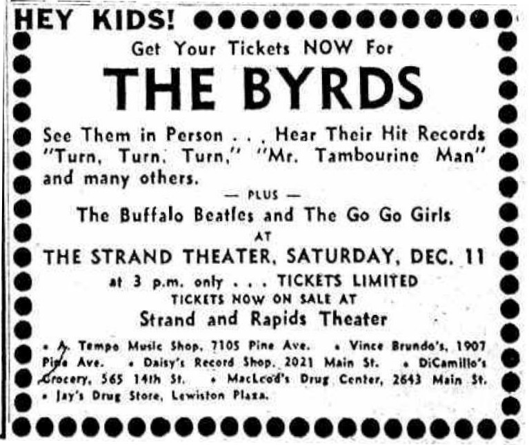 Byrds Ticket Ad